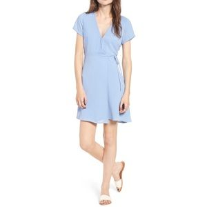 New Lush Olivia Wrap Dress Blue